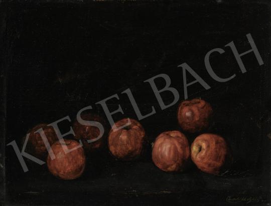 Pentelei Molnár János - Piros almák, 1910 körül festménye
