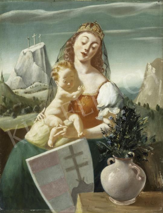 Molnár C. Pál - Magyar Madonna (Kálvária, Pajzs) festménye