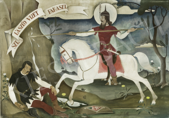 For sale  Basilides, Barna - Saint Ladislau Wrings Water, 1943 's painting