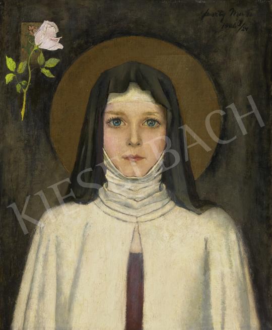 Feszty Masa - Árpádházi Szent Margit, 1946 festménye