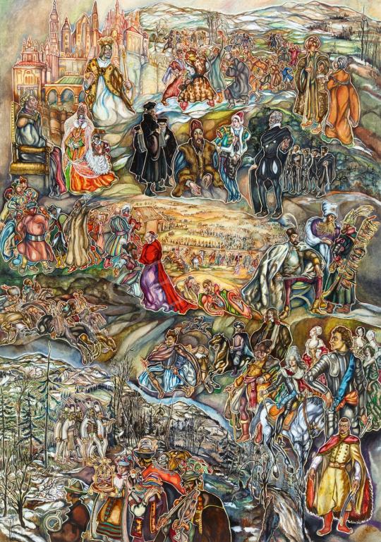 Batthyány Gyula - Magyar történelem (Bethlen, Bocskai, Zrínyi) festménye