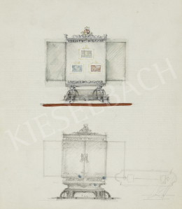 Légrády, Sándor - Designplans for the box of Miklós Horthy's stamps for the 1940 Milan triennial (7 pieces)