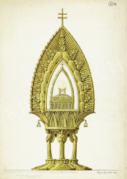 Megyer Meyer Antal - Az eucharisztikus szentségtartó kivitelezési terve, 1937–1938
