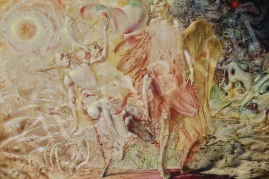 Korga György - Bizonytalanság (A rendszerváltás víziója, Az MDF előlép a múltból), 1990-91 festménye