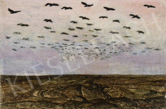 Szalay Ferenc - Magyar táj (Szentes), 1966 festménye