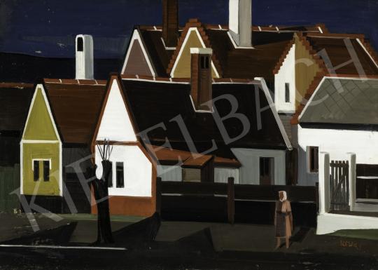 Ircsik József - Házak (Hommage á Barcsay) festménye