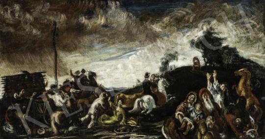 Vén Emil - Lovas jelenet (Hommage á Rudnay), 1926 festménye