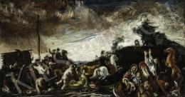 Vén Emil - Lovas jelenet (Hommage á Rudnay), 1926