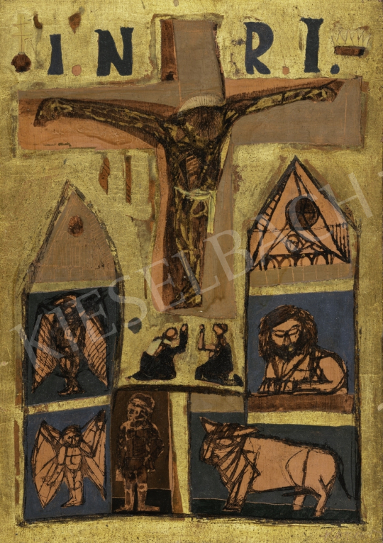 For sale Kondor, Béla - Christ and the Four Evangelists (Serbian Christ), 1958 's painting
