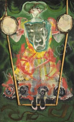 Zoltán Mária Flóra - Önarckép oroszlános ruhában (Cirkusz), 1972-73