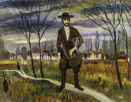 Jánossy Ferenc - A vándor zsidó, 1960 körül festménye