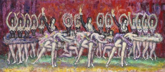 Vén Emil - Próba az Állami Balettintézet Andrássy úti intézetében festménye