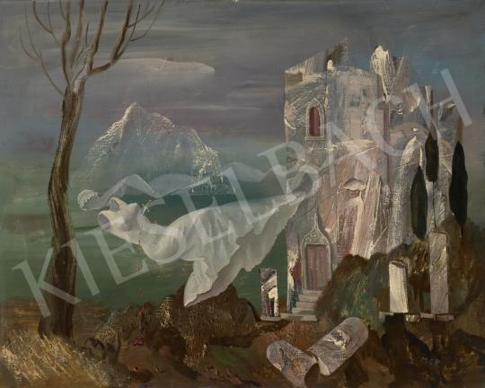 Molnár C. Pál - Egyszer volt … (Táj, menyasszony) festménye