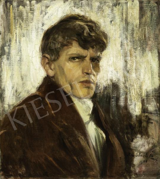 Benkhard Ágost - Fiatalkori önarkép, 1928 festménye