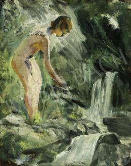 Benkhard, Ágost - Female Nude by the Spring