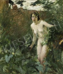 Benkhard, Ágost - Nymph in the erdőben, 1929