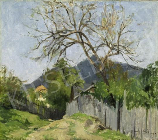 Benkhard Ágost - Felsőbányai táj, 1943 festménye