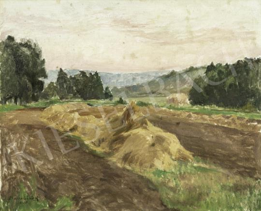 Benkhard Ágost - Alkonyati fények, 1936 festménye
