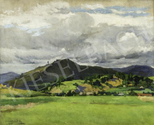 Benkhard Ágost - Magyar táj gomolygó felhőkkel, 1915 festménye