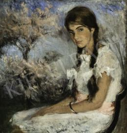 Benkhard, Ágost - Spring Blossoming (Girl in Lace Dress), 1924