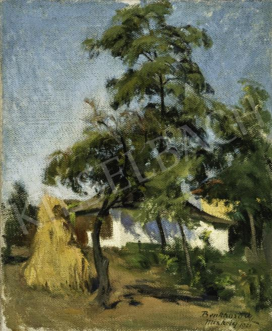Benkhard Ágost - Nyári napfény boglyával, 1921 festménye
