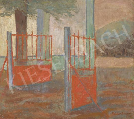 Eladó Kántor Andor - Szentendrei kapu (Szocializmus), 1957 festménye