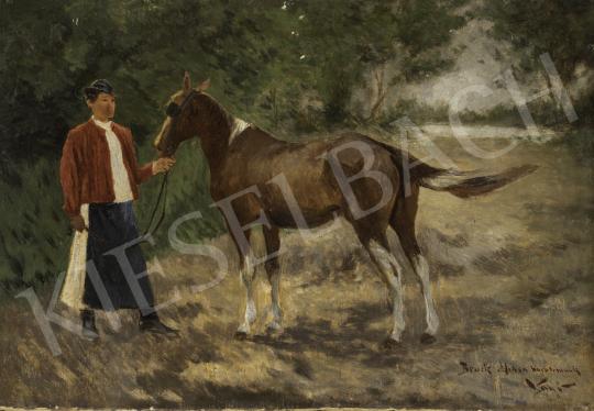 Vágó Pál - Lovászfiú festménye