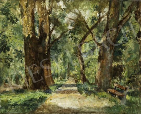 Herman Lipót - Keszthelyi park festménye