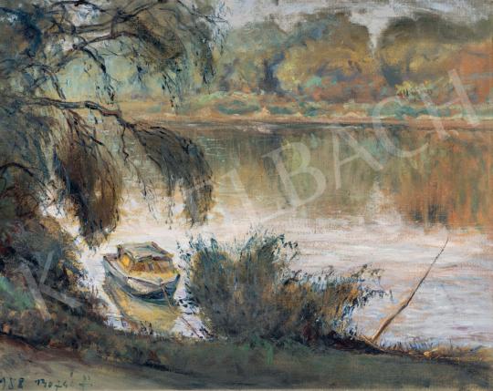 Bozsó János - Tisza-part festménye