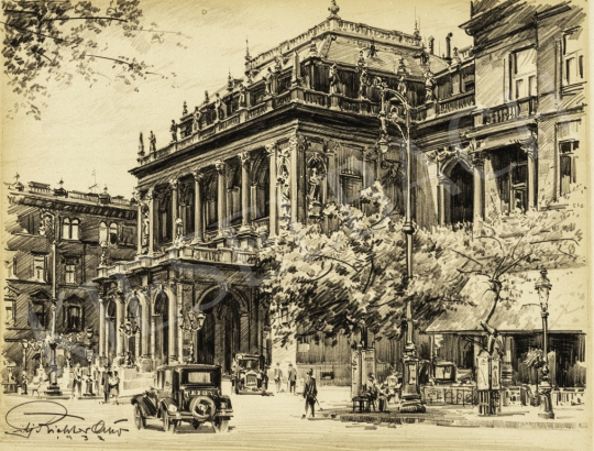 ifj. Richter Aladár - Operaház, 1932 festménye