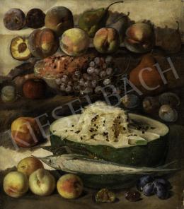 Ismeretlen közép-európai (magyar?) festő 1860 - Csendélet gyümölcsökkel