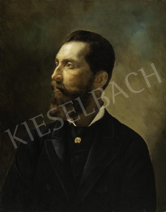 Ismeretlen magyar festő - Gróf Apponyi Albert fiatalkori arcképe, 1890 körül festménye