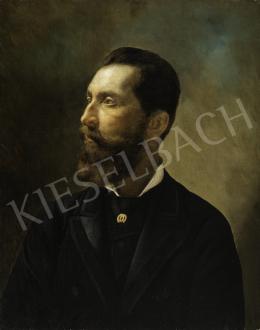 Ismeretlen magyar festő - Gróf Apponyi Albert fiatalkori arcképe, 1890 körül