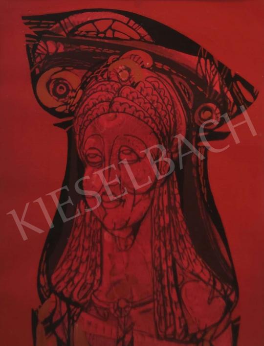 Eladó Ismeretlen festő - Piros Madonna  festménye