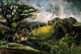 Szőnyi István - Zebegényi dombon (1920)