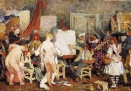 Ismeretlen festő, 1930 körül - A festő és modelljei