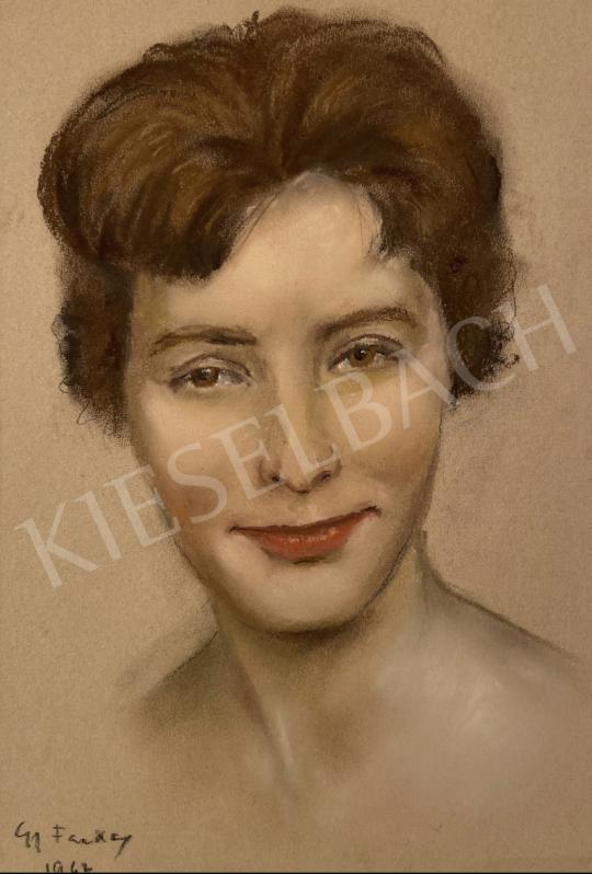 Eladó  G Farkas Géza  - Női portré 1962 festménye