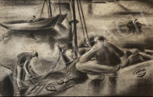 Eladó Szantrucsek Jenő - Balatoni Halászok  festménye