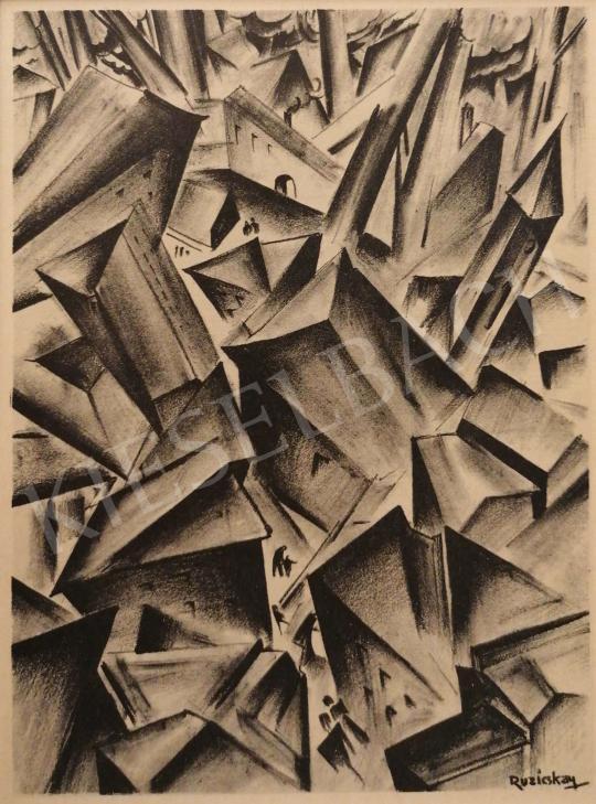 Eladó  Ruzicskay György - Illusztráció a Szerelemkeresőből festménye