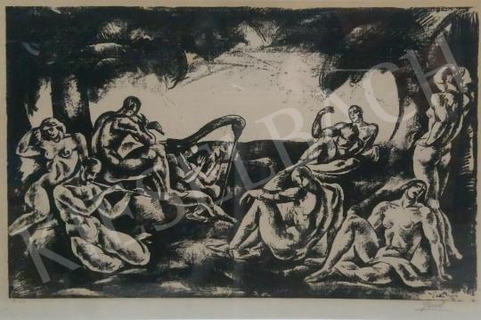 Eladó  Gábor Jenő - Zene, 1922 festménye