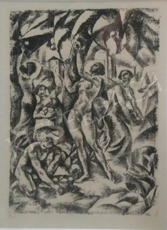 Eladó  Gábor Jenő - Almaszedők festménye