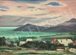 Duray Tibor - Balatoni látkép nyári égbolttal (Kilátás Balatonfüredről)