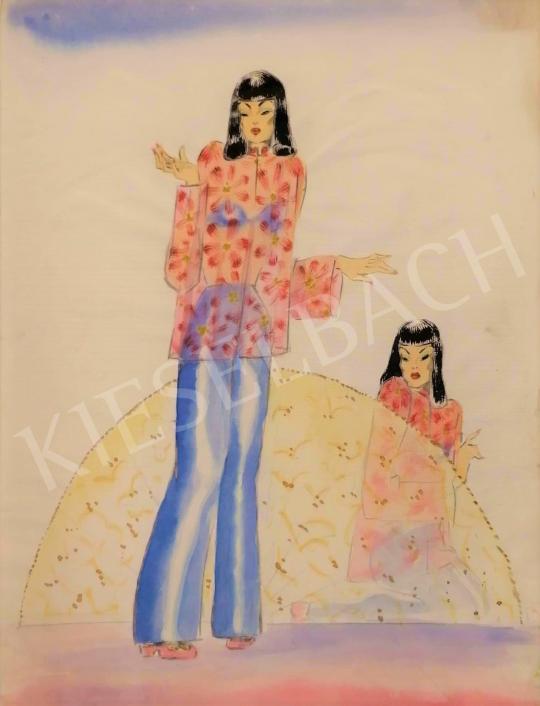 Eladó Kemény Judit - Japán divat festménye