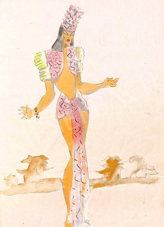Eladó Kemény Judit - Keleti hölgy festménye