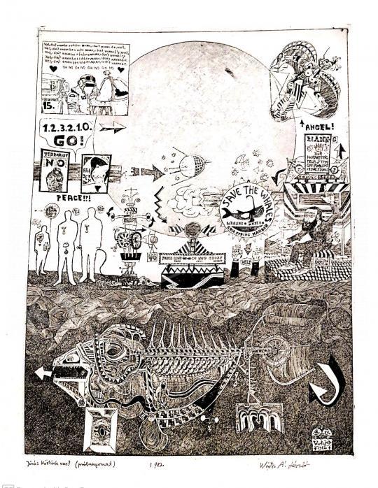 Eladó  Würtz Ádám Jr. - Jónás köztünk van?, 1982 festménye