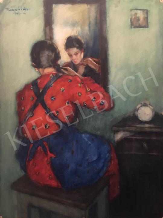 Eladó  Kássa Gábor - A piros mintás ruha, 1940 festménye