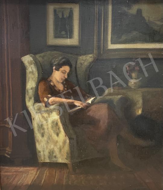 Eladó  Zádor István - Otthon (Olvasó nő), 1921 festménye