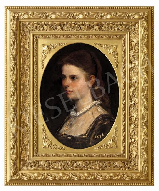 For sale  Lotz, Károly - Young Girl with a Golden Necklace 's painting