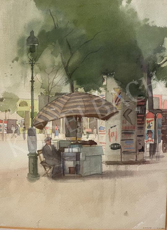 Eladó Hende Vince - Budapest (Gázlámpa, hirdetőoszlop) 1943 festménye