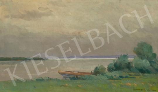 Eladó Halasi Horváth István - Balatoni vitorlások (Eső utáni fények a Fenyvesi partnál), 1939 festménye